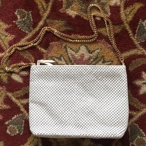 Whiting and Davis White evening bag